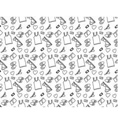 underwear love object seamless pattern black vector image