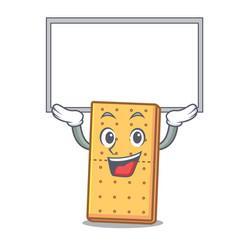 Up board graham cookies character cartoon vector