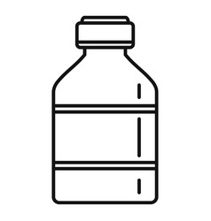 vaccine bottle icon outline style vector image