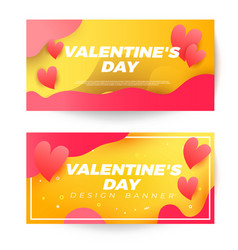 valentines day sale banner with heart pattern vector image