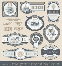 Vector set of vintage labels vector