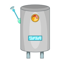 Water heater with wi fi connection icon vector