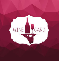 Wine card tray vector