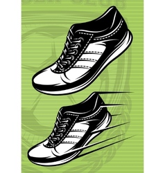 with a set of running shoes vector image