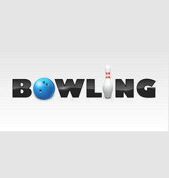 word of bowling vector image