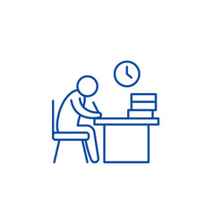 working day line icon concept working day flat vector image