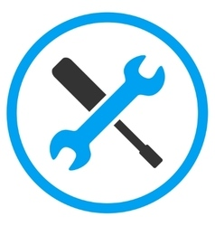 Wrench And Screwdriver Tools Icon vector