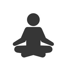 yoga fitness icon meditation logo sign on white vector image