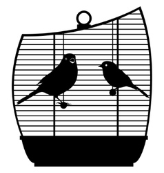 Cage with birds-1 vector