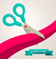Grand Opening Banner Retro Flat Design with vector image vector image