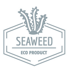 seafood logo simple gray style vector image