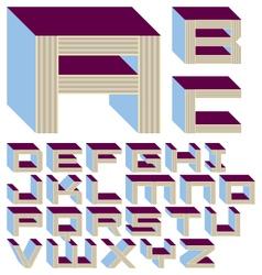 Shelf Life Font - A-Z - 1 of 4 vector image
