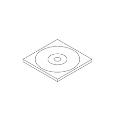 Blank compact disc in a case icon vector image