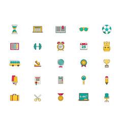 education icon set flat vector image