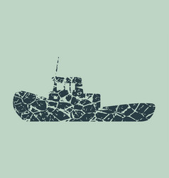 marine tug icon vector image