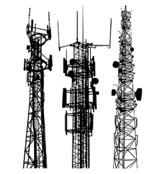 Mobile phone masts vector image