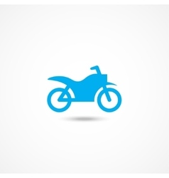 Motorcycle icon vector image vector image