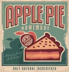 Apple pie vintage poster design vector image