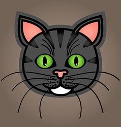 Cartoon grey tabby cat vector