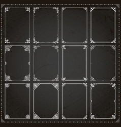 decorative frames and borders rectangle vector image vector image