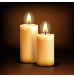 Isolated candles vector image