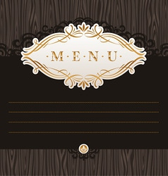 menu with calligraphic frame vector image vector image