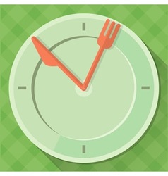 Time to eat vector image
