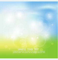 Blurry background spring or summer blue sky with vector