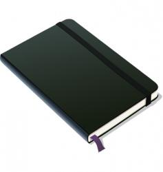 Bound notebook vector