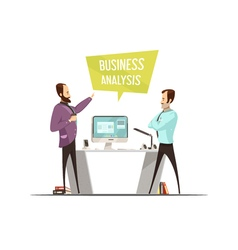 Business Analysis Cartoon Style Design vector image vector image