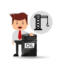 businessman oil industry oil rig vector image