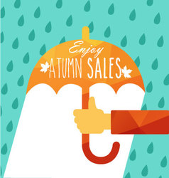 enjoy autumn sales vector image