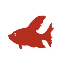 fish sea animal vector image