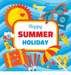 Happy summer holiday - creative banner vector image