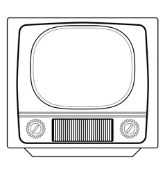 vintage tv set vector image vector image