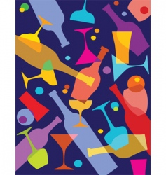 wine and alcohol vector image