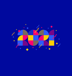 2021 new year multicolored logo vector image