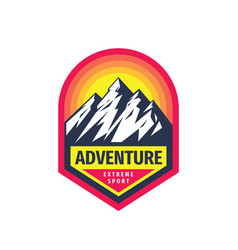 adventure extreme sport - concept badge design vector image