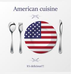american cuisine cutlery vector image