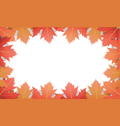 autumn background frame of maple leaves vector image