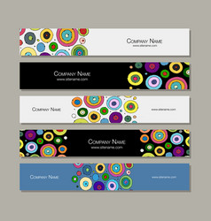 Banners design abstract circles vector