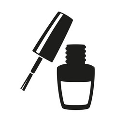 Black and white nail varnish silhouette vector
