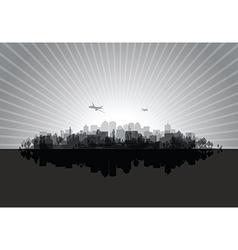 Black cityscape vector
