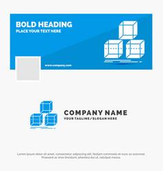 Blue business logo template for arrange design vector