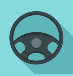 car steering wheel icon flat style vector image