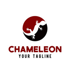 chameleon logo icon design template vector image