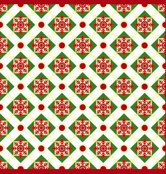 Christmas geometric nordic seamless pattern vector