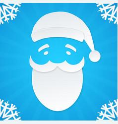 Christmas postcard santa 1 vector