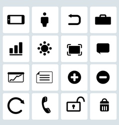Clean Black Web icons set 2 vector image
