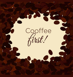 coffee beans background vector image